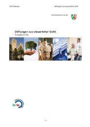 Stiftungen aus steuerlicher Sicht - Oberfinanzdirektion Münster
