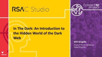 In The Dark An Introduction to the Hidden World of the Dark Web
