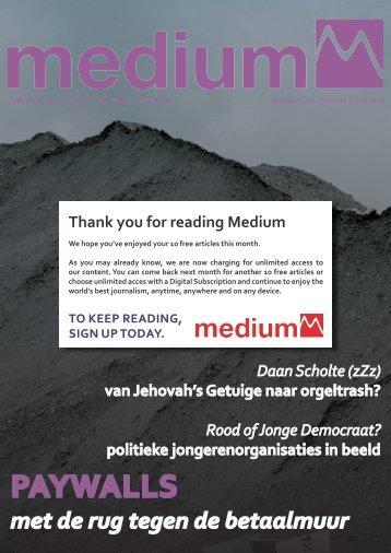 Medium / Jaargang 26 / #03 / Juli 2013