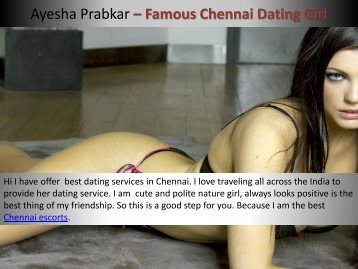 Ayesha affordable and top level dating service in Chennai