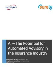 AI – The Potential for Automated Advisory in the Insurance Industry