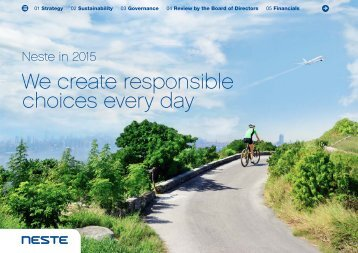 We create responsible choices every day