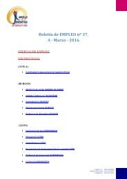 Boletín de EMPLEO nº 37 4 - Marzo - 2016