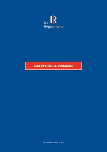 CHARTE DE LA PRIMAIRE