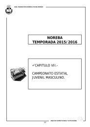 NOREBA TEMPORADA 2015/2016