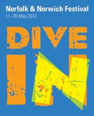 NNF 2012 Brochure - Norfolk and Norwich Festival