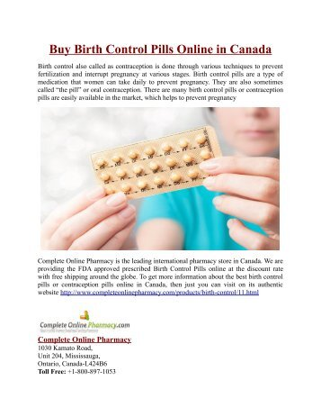 buy birth control pills online in canada - Buy Birth Control Online