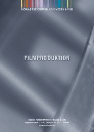Referenzliste Film/Animation/Web - Nicolas Rutschmann