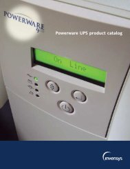 Powerware UPS product catalog - Power & Systems Innovations