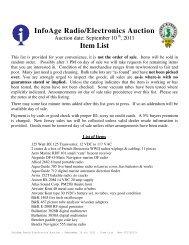 InfoAge Radio/Electronics Auction Item List - The New Jersey ...