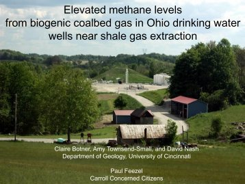 from biogenic coalbed gas in Ohio drinking water wells near shale gas extraction