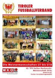 TFV Magazin: 42. TFV Hallen-Nachwuchs-Meisterschaft 2016, powered by Tiroler Versicherungsmakler