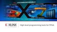 High-level programming tools for FPGA