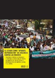 """EL ESTADO COMO """"APARATO REPRODUCTOR"""" DE VIOLENCIA CONTRA LAS MUJERES"""