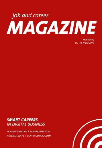 job and career at CeBIT 2016 MAGAZINE