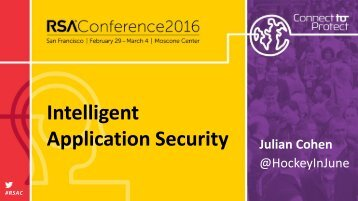 Intelligent Application Security