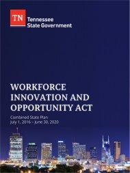 Combined State Plan July 1 2016 – June 30 2020