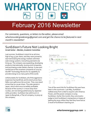 WUEG February 2016 Newsletter