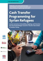 Cash Transfer Programming for Syrian Refugees