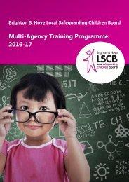 Multi-Agency Training Programme 2016-17