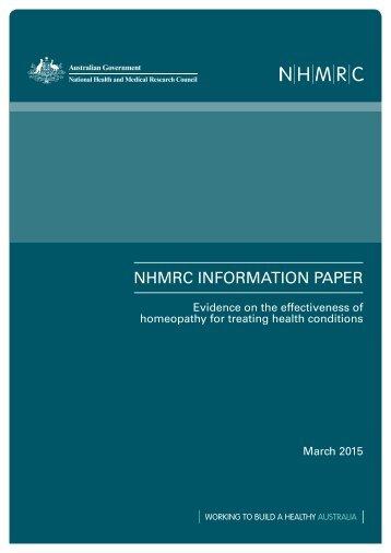 NHMRC INFORMATION PAPER