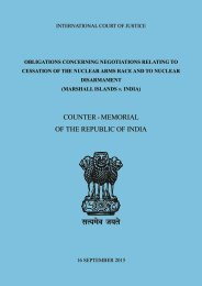 COUNTER - MEMORIAL OF THE REPUBLIC OF INDIA