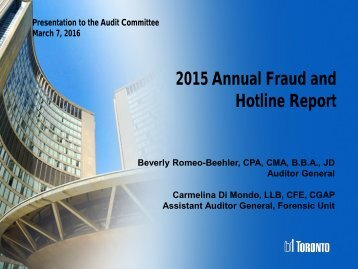 2015 Annual Fraud and Hotline Report
