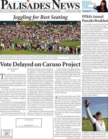 Vote Delayed on Caruso Project