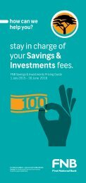 stay in charge of your Savings & Investments fees