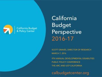 California Budget Perspective 2016-17