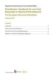 Practitioners' Handbook for Low Cost Repairable or Resilient Reinstatement