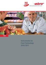 Download Ebro's Food catalog - Thermo/Cense Inc.