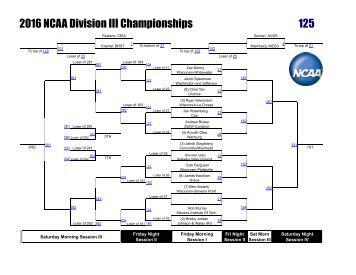 2016 NCAA Division III Championships 125