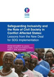 Conflict Affected States Lessons from the New Deal for SDG Implementation