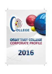 ORBIT TVET College Profile 2016