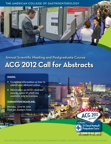 ACG 2012 Call for Abstracts - ACG - American College of ...