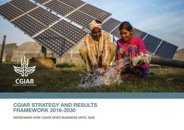 CGIAR STRATEGY AND RESULTS FRAMEWORK 2016-2030
