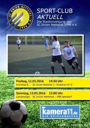 Sport Club Aktuell - Ausgabe 23 - 13.03.2016 - VFL Speldorf