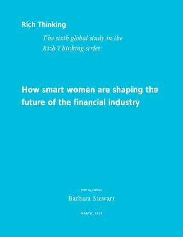 How smart women are shaping the future of the financial industry