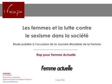 Les femmes et la lutte contre le sexisme dans la société