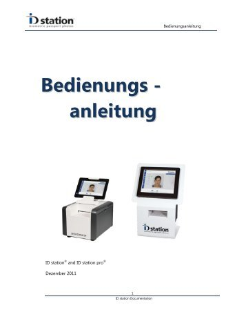 Bedienungs - anleitung - ID station.eu