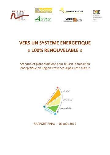 vers un systeme energetique « 100% renouvelable - Institut négaWatt