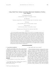 Using Stable Water Isotopes to Evaluate Basin-Scale Simulations of ...