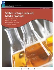 Stable isotope labeled Media products - Cambridge Isotope ...
