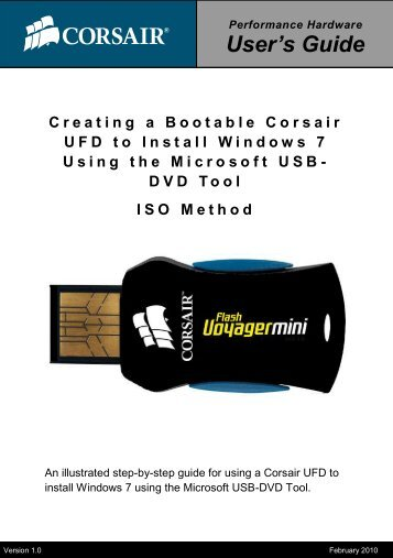Creating a Bootable Corsair UFD to Install Windows 7 Using the ...