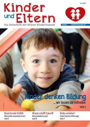 Die Zeitschrift der Wiener Kinderfreunde 01/2016