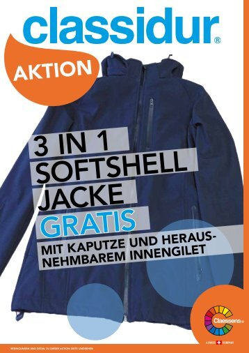 Vernis Claessens Softshell-Jacke 01.03. - 30.04.16