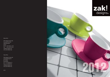 designs Product Catalogue 2012 (pdf K) - zak!designs Europe