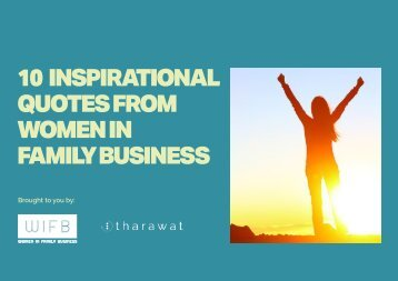 10 INSPIRATIONAL QUOTES FROM WOMEN IN FAMILY BUSINESS