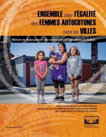 FEMMES AUTOCHTONES VILLES